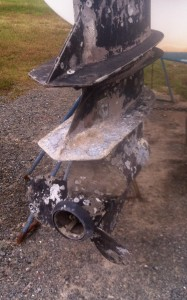 severely corroded outboard engine